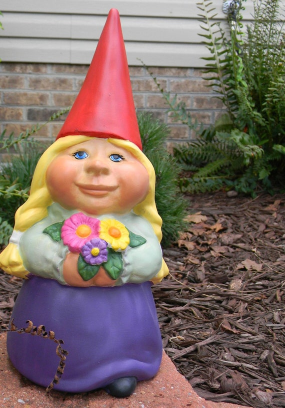 Garden Gnome Ceramic Lady Lisa Garden Gnome Female Wedding