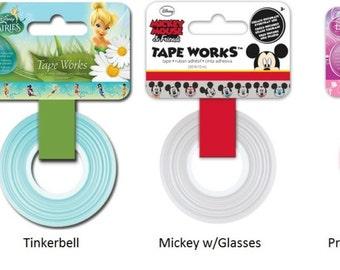 DISNEY Washi Tape TapeWorks Assortments - Mickey Princess or Fairies