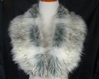 Faux Fur COLLAR,  Women's Fur Neckwarmer, Canadian Fox Fur Collar, Fox Faux Fur Collar