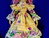 Lavendar Rose, A cloth Rag Doll