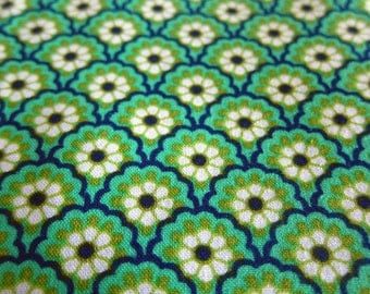 Peacock Ploral in Blur and Green - Michael Miller for Vera Bradley - Large Fat Quarter