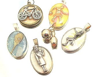 Studio Sale Lot Resin Pendants Nurse Tennise Bowling Day Theme All for One Price
