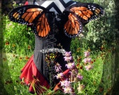 Wearable Orange Monarch Wings by Spider Stitches