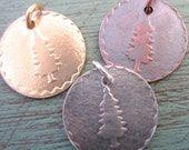 Embossed Tree Necklace