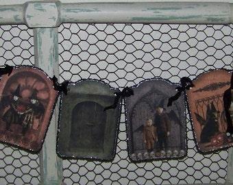 Halloween Banner Halloween Witch Banner Vintage Goth Style