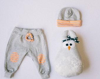 SALE Grey & Neon Baby Sweats