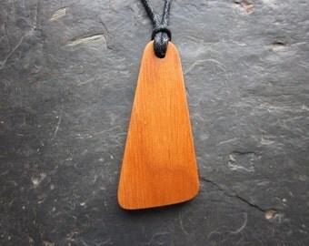 "Unique Natural Wood Pendant - Alder/Fearn - ""Secret Sigil"" Ogham Design for Faery Magic."