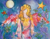 Guardian Angel - 11 x 17 image, giclee print on 300 lb watercolor paper