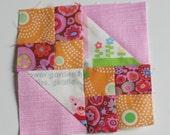 Tiny blocks tutorial series: little buckeye beauty. TKF pattern and tutorial. TKF patchwork essentials