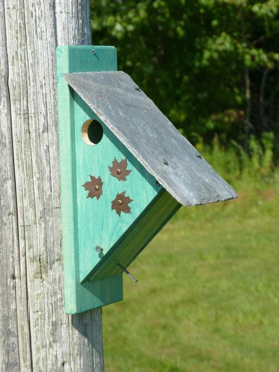 Nuthatch Birdhouse Nest Box Bird House Nestbox By