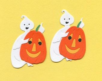 Lot of 2 Bosskuts Ghost and Pumpkin Die Cuts