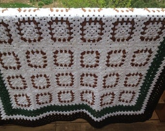 Frosted Limbs Crochet Granny Square Afghan