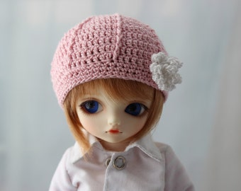 Pink Crochet Hat for Yo SD BJD, Dolls Like LittleFee