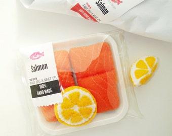 Play Felt Food Salmon with lemon slice