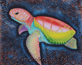 Modern Cross Stitch Kit, Sea Turtle, Laura Barbosa