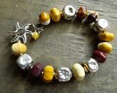 Mookaite Australian Jasper Gemstone Bracelet