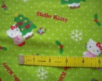Hello Kitty Christmas  Flannel Fabric per 1/2 Yard