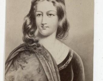 1860s - 1870s Antique CDV Photograph. Portia