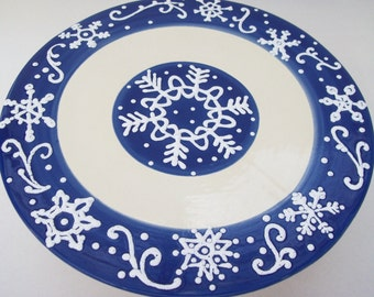 Cake Stand Winter Snowflake- Ready to Ship
