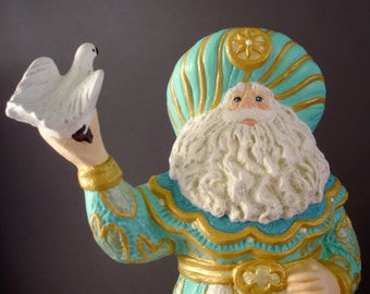 Peaceful Christmas Santa Ceramic Figurine