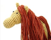 Orange Sparkle Hair Styling Pony Stuffed Animal Handmade Horse