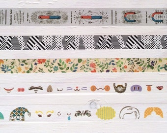 mt factory tour vol.3 Limited Edition Washi Masking Tape - <Head + Eyes> & <Nose + Mouth> Set