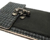 iPhone 6 / 7 / 7 Plus wallet  - gray vintage wool