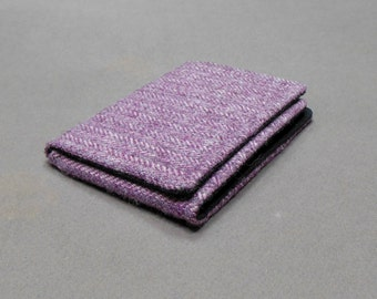 Wallet - plum herringbone