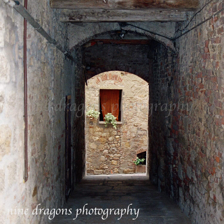Rustic Photography Italian Window Brown Wall Art Tuscany