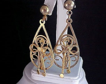 Beautiful SHOULDER DUSTERS - Open Workmanship Post Earrings
