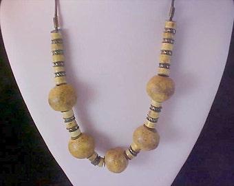 REDUCED~Gorgeous Large Brown-Tan Massive Genuine Rock Quartz Necklace