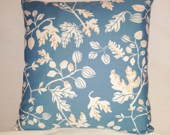 Pillow Ikea Oak Leaves and Acorns on Blue