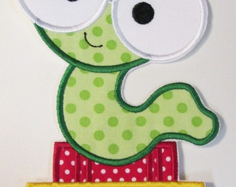 Iron On Applique - Mr. Book Worm