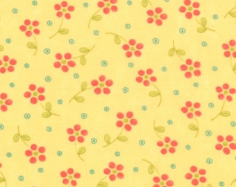 Yellow Small Flower Fabric - Chance of Flowers - 1/2 yd - Moda - Sandy Gervais