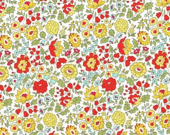 Liberty Fabric Danjo B Yellow  Tana Lawn Fat Quarter