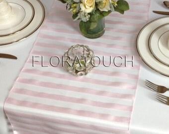 Pink Tuxedo organza wedding table runner