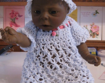 Crochet Lover's Knot Doll Dress and Hat