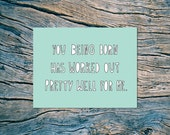You Being Born - A2 folded note card & envelope - SKU 231