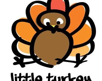 Kids Little Turkey Tee Shirt
