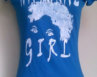 Teen Blue with White Natural Girl T-Shirt