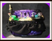 witch kitchen sink  dollhouse miniature halloween ooak glows in dark potions dishwater