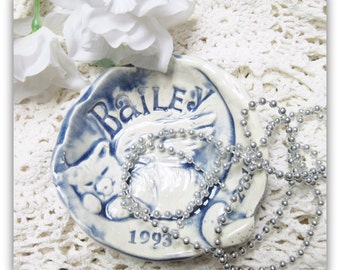 Cat or Kitty Memorial  Memory Bowl Trinket Dish