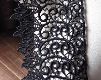 Black Lace for Black Bridal, Garments, Jewelry or Costume Design L 2099