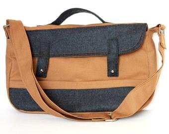 Sewing Pattern For The Bathurst Bag.  PDF Sewing Pattern. Instant Download. Handbag.  Briefcase. Messenger Bag.