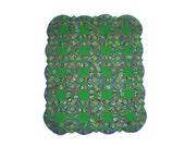 Miniature Illusion Quilt --- Green Double Wedding Ring