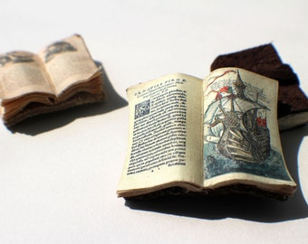 Miniature Open Book --- Ship