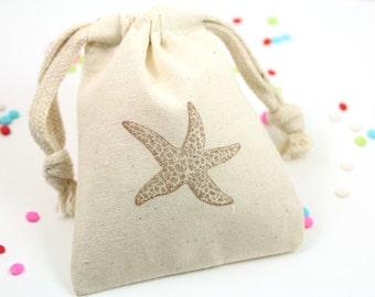 Star Fish Favor Bags - Set of 10