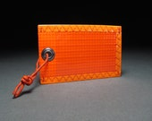 Bright Neon Orange Luggage Tag - Sailcloth