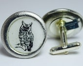 Owl Pewter Cufflinks