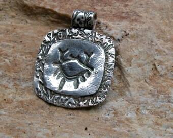 fine silver crab pendant - feeling crabby?